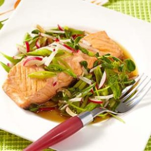 Mirin-Poached-Salmon-with-Spring-Salad